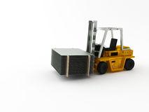 Fork-lift truck Stock Images