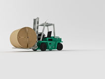 Fork-lift truck Stock Photo