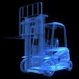 Fork lift truck, front view Royalty Free Stock Images
