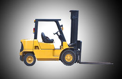 Fork lift truck isolated on white Royalty Free Stock Photography