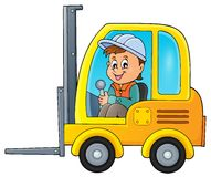Fork lift truck theme image 2 Stock Photos