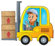 Fork lift truck theme image 1 Stock Photo