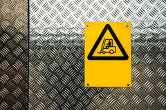 Fork lift truck warning sign Royalty Free Stock Photography