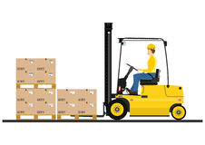 Fork lift truck Royalty Free Stock Image
