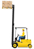 Fork lift truck Stock Image