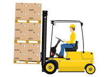 Fork lift truck Stock Photography