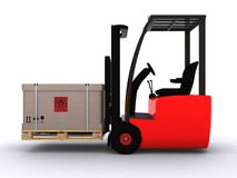 Fork lift Royalty Free Stock Photo