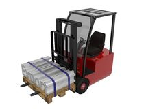 Fork lift Royalty Free Stock Image