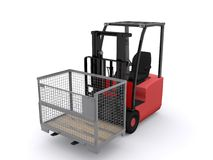 Fork lift. On white background Stock Photography