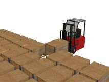 Fork lift Royalty Free Stock Photography