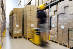 Fork lift at work Royalty Free Stock Images