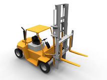 Fork lifter 3D illustration Royalty Free Stock Photos