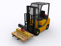 Fork lifter Stock Image