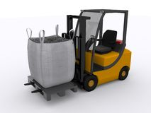 Fork lifter Royalty Free Stock Photo