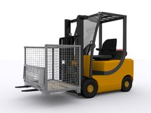 Fork lifter Royalty Free Stock Photos
