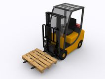 Fork lifter Stock Photo