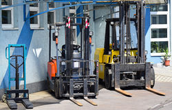 Fork lifts Royalty Free Stock Photography