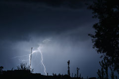 Fork lightning  Stock Photo