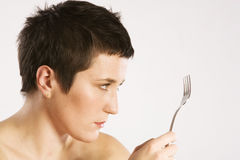 Fork looking Royalty Free Stock Photo