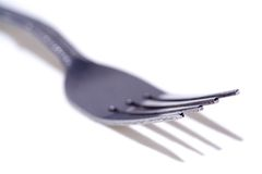 Fork macro royalty free stock photo