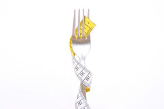 Fork with measure Royalty Free Stock Photos