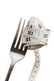 Fork and measuring tape Stock Photo