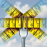 Fork Measuring Tape Royalty Free Stock Photography