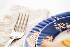 Fork and napkin Stock Photos