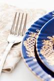 Fork on napkin Royalty Free Stock Image