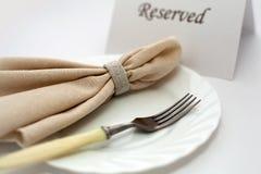 Fork and napkin Stock Photo