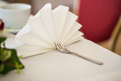 Fork and napkin Royalty Free Stock Photo