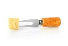 Fork with parmesan Stock Photo
