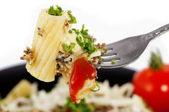 Fork with pasta Royalty Free Stock Image