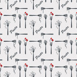 Fork of pasta pattern Royalty Free Stock Images