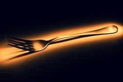 Fork pianted luz Imágenes de archivo libres de regalías