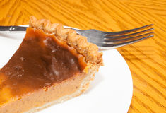 Fork and pie Stock Photography