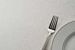 Fork and plate Royalty Free Stock Photo