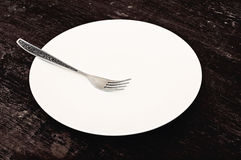 The fork and the plate Stock Photos