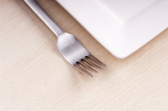 Fork and Plate Royalty Free Stock Photos