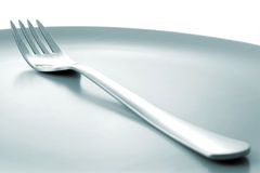 Fork on Plate Royalty Free Stock Image