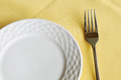 The fork and plate Stock Photos
