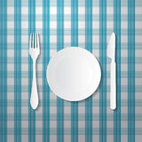 Fork, Plate and Knife Royalty Free Stock Photo