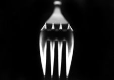 Fork reflection Royalty Free Stock Image
