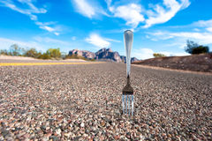Fork in the road Stock Photo
