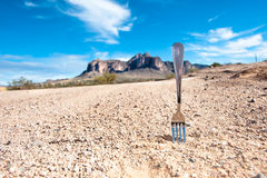 Fork in the road. A fork in the road inferes a decision point in ones life Stock Photography