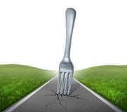Fork in the road Stock Image