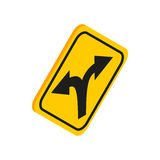 Fork in the road sign icon, isometric 3d style Royalty Free Stock Photography