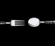 Fork sand spoon Stock Photography