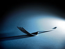Fork and shadow Stock Photo