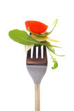 Fork with snack Royalty Free Stock Photos